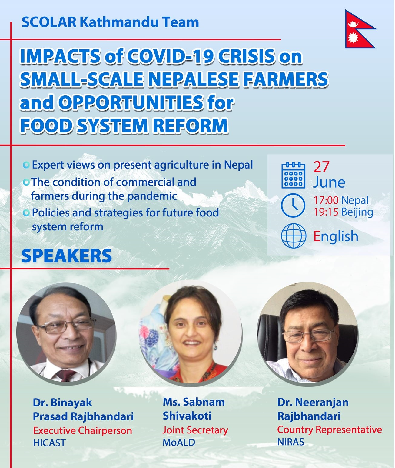 Impact of COVID crisis on Nepalese small-scale farmers and opportunities for food reform system